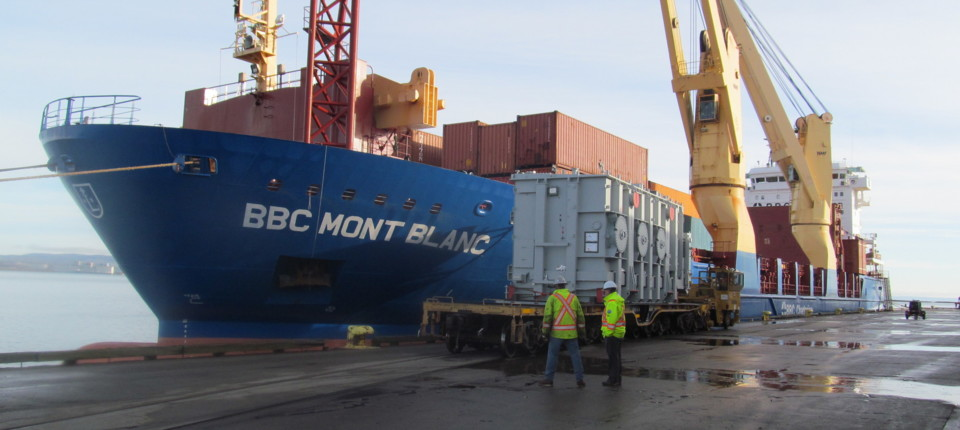 Inspecting containers at a Container Terminal | Cargoinspect Inc.